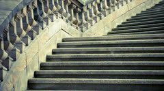 Old stone stairs Stock Footage