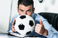 soccer passion - stock photo
