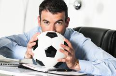 Soccer passion Stock Photos