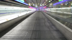 Airport walk way with passenger Stock Footage