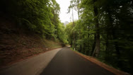 Stock Video Footage of TIMELAPSE POV Driving In Forest