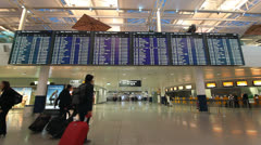 Airport terminal in Munich, Germany Stock Footage