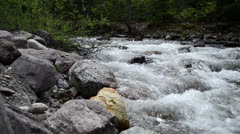 Peaceful Mountain Stream at Dusk Stock Footage