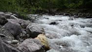 Stock Video Footage of Peaceful Mountain Stream at Dusk