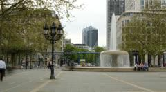 Frankfurt fountain 4K 16x9 Stock Footage