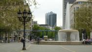 Frankfurt Fountain zoom Stock Footage