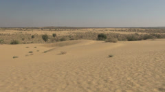 India Rajasthan Thar desert landscape with windswept sand  Stock Footage