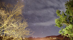 Timelapse Startrail over the Drakensberg Mountain at night Stock Footage