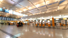 Airport check-in area Stock Footage