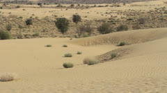 India Rajasthan Thar desert landscape with patterned dunes  Stock Footage