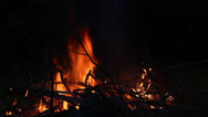 Stock Video Footage of bonfire at night
