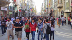 Istiklal Street on fourth day of protests - stock footage