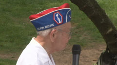 Japanese-American World War II Veteran  Stock Footage