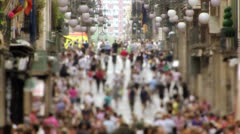 Anonymous crowd in slow motion 03 Stock Footage