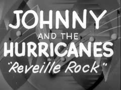 """Johnny And The Hurricanes"" Vintage Retro Theater Announcement Stock Footage"