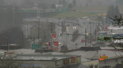 Traffic on city street and freeway Stock Footage