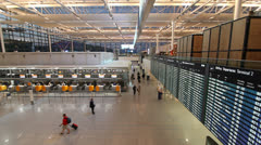 Munich airport hall Stock Footage