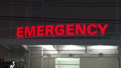 Red Emergency Room Hospital Sign 1 Stock Footage