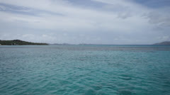 Open water, islands, horizon Stock Footage