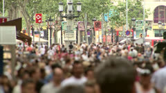 Large anonymous crowd in slow motion 06 Stock Footage