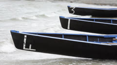 Boats ready for race Stock Footage