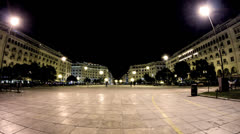 Aristoteloys Square, Thessaloniki, Greece Stock Footage