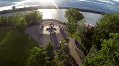 Ottawa sotamuistomerkille Aerial Arkistovideo