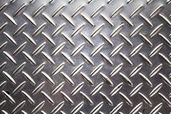 background texture of metal diamond plate. - stock photo