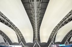 Abstract interior of kansai international airport Stock Photos