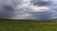 Stormy Alaska Interior Tundra Timelapse Stock Footage