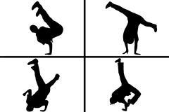 Streetdancer Silhouette - stock illustration