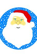 Face of Santa Claus Stock Illustration