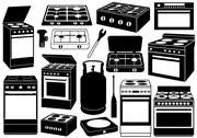 Stock Illustration of Stove Set