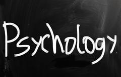 'psychology' handwritten with white chalk on a blackboard Stock Illustration
