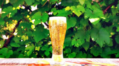 Glass of beer Stock Footage