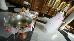 Stock Video Footage of baptismal font
