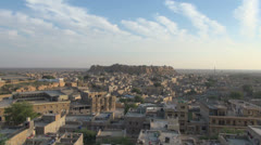 India Rajasthan Jaisalmer wide fortress zooms Stock Footage