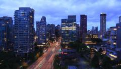 Vancouver Downtown Timelapse Stock Footage