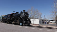 Historical Locomotive at Grand Canyon National Park, Railway Station, Arizona Stock Footage