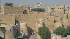 India Rajasthan Jaisalmer fortress walls within walls  Stock Footage
