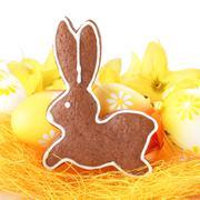 Gingerbread bunny Stock Photos