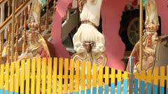 Antique carousel in shopping center Stock Footage