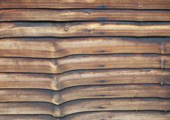 Weathered larch lap fence panel Stock Photos