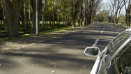 Stock Video Footage of Car Ride POV with reference. Country road