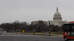 United States Capitol Hill Building Washington DC USA Congress Busy City Capital - stock footage
