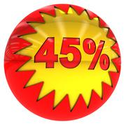 ball with forty five percent - stock illustration
