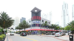 Marshalls Outlet store Downtown Miami Stock Footage
