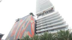 50 Biscayne Boulevard Condo Tower Stock Footage