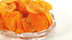 Paprika chips dolly Stock Footage