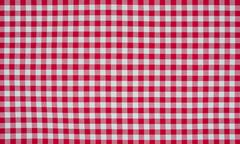 Stock Photo of red and white checkered tablecloth